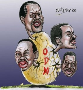 Kenny's cartoon on ODM(Orange Democratic Movement)