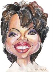 A Caricature of Oprah Winfrey by Gathara