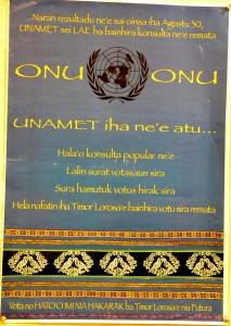 Pôster da ONU diz: