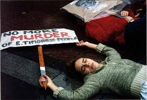 """Die-in"" protest in the US. Credit: www.etan.org"