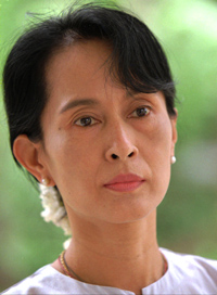Global democracy icon, Aung San Suu Kyi