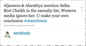 Messaggio su Twitter di weddady