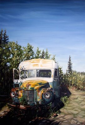 """Fairbanks Bus 142"", courtesy of Heather Horton"