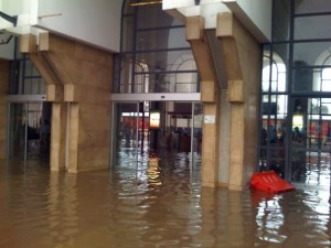 Gare Rabat Agdal under water