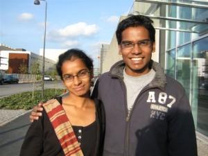 Anindita Nayak e Abhishek Nayak, partecipanti dall'India