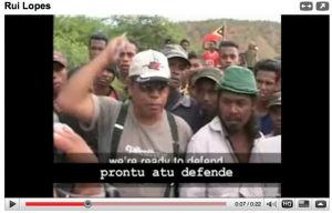 Rui Lopes Leads Anti-FRETILIN protest convoy near Dili June 2006