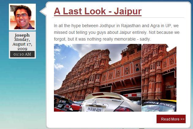 Screenshot from Joseph-Namrata's blog