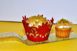 Photo of knafeh cupcake by Frankom, cupcake by Glaze (Kuwait)