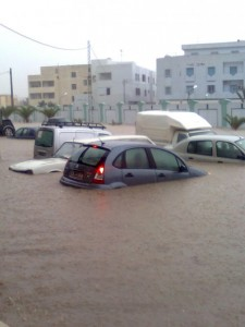 Photos show severe flooding in Redeyef