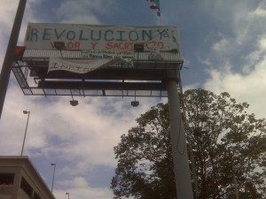 """Revolution Now"" Photo sent to GV by a participant."