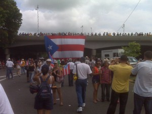 Demonstration in Puerto Rico. Photo sent to GV by a participant.