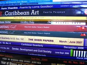 A selection of books from and about the Caribbean.