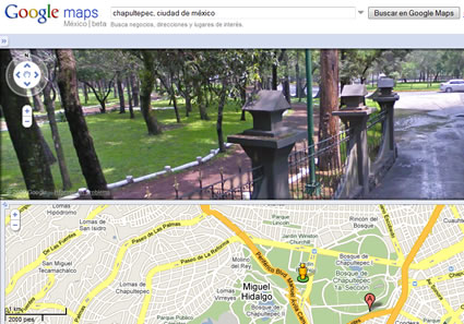 Street View in Google Maps México