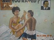 An anti-rape billboard in Monrovia by Nat Bayjay on Ceasefire Liberia