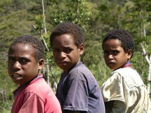 Papuan children. Photo by Flickr user 710928003