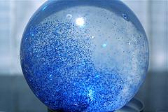 Blue sparkle ball by stevendepolo
