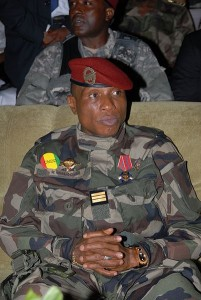Dadis Camara, a Guinean military officer who seized power last December in a coup, was shot yesterday by one of his aides.