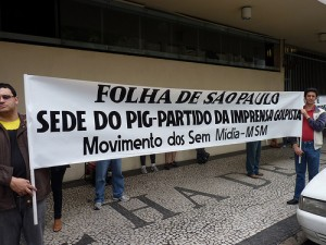 """Folha de São Paulo: Headquarters of PIG - Coupist Press"". Photo by Aritanã Dantas. Used under a Creative Commons License."
