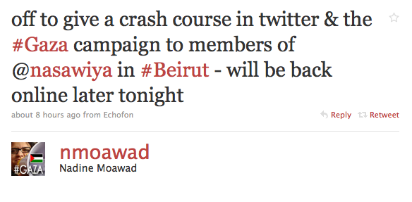 Nadine Moawad will teach Twitter campaigning locally