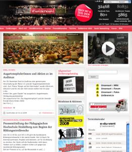 Website Unsereuni