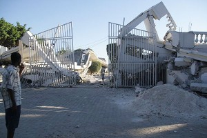 Hotel Haiti Destroyed By the Quake, phot by Yuri Firsov