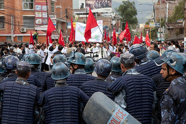 Maoist protest In Nepal