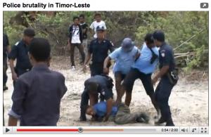 Жестокость полиции снята на видео