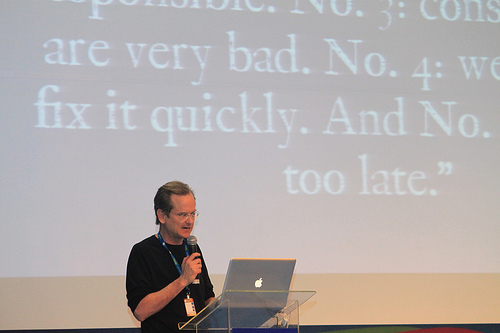 Lawrence Lessig, founder of Creative Commons. Photo by senomoto_br on Flickr. Used under a Creative Commons license.