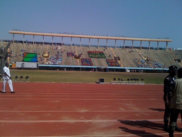 On Saturday, February 13, President Wade of Senegal addressed a nearly empty stadium at an independence celebration.