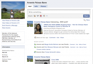 Member of Parliament Arsenio Bano on Facebook - with permission.