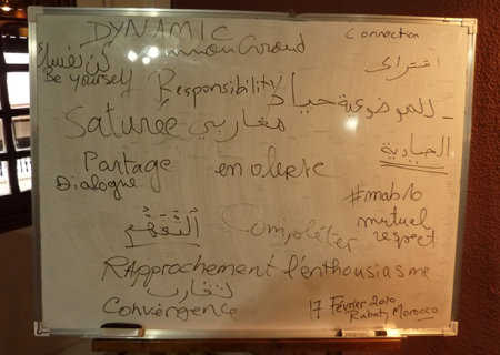Rabat SFCG Workshop - Whiteboard
