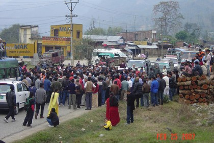 Strike in Nepal. Image by Flickr user Nepaliaashish. Used under a Creative Commons License