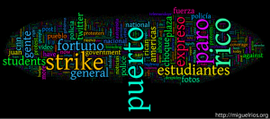 These were the most frequent words used in the tweets on the national strike.