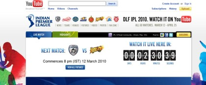 Youtube IPL channel