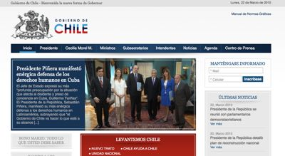 Government of Chile website