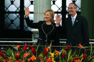 Secretary Clinton and President Colom in Guatemala. Photo by Gobierno de Guatemala and used under a Creative Commons license.