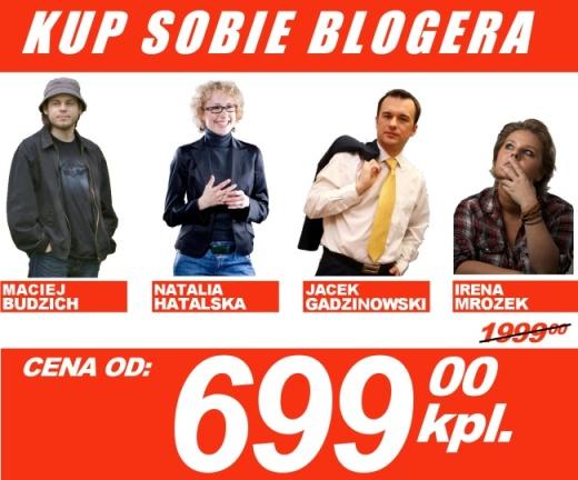 Cómprate un blogger, el precio empieza desde 699 PLZ