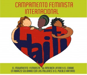 Logo of the International Feminist Solidarity Camp in Haiti.