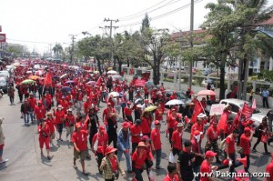 Red Shirts marching