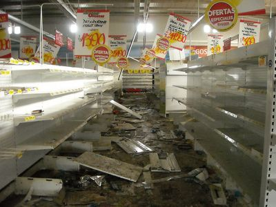 Photo of empty supermarket in Concepción by heedmane and used under a Creative Commons license.