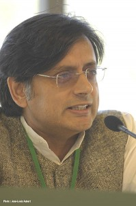 Shashi Tharoor. Image By Wikimedia Commons & MEDEF