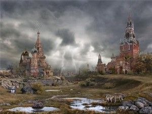 Apocalyptic red square, photo by vladimir manyukhin