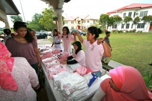 Pink Merchandise were sold to raise funds for the Support Group