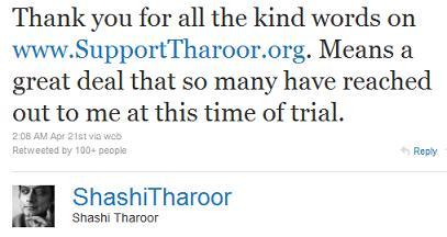 tharoor tweet