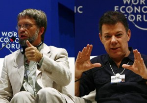 Antanas Mockus and Juan Manuel Santos