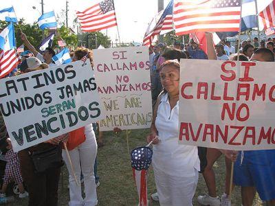 Una manifestazione per l'immigrazione in USA
