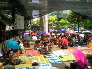 Manifestazione delle Camicie Rosse