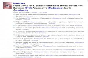 Archivi degli aggiornamenti via Twitter dal Madagascar
