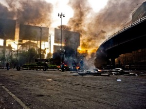 Bangkok in fiamme; foto di Vaitor
