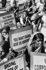 Women protesters in Bhopal